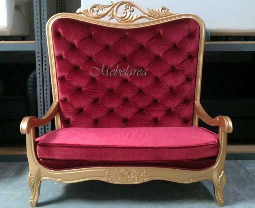 Kursi Sofa Mewah Queen Gold