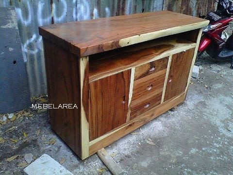Buffet Meja Tv Kayu Blok