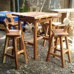 Set Kursi Bar Kayu Modern