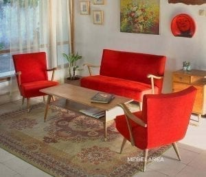 set sofa tamu retro kayu jati