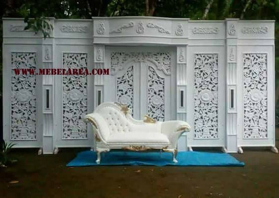 Furniture Gebtok Pelaminan Ukiran Warna Finishing Duco Putih