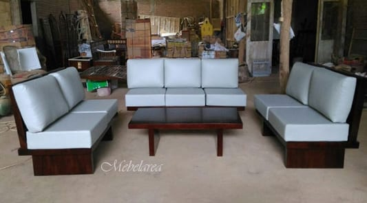 Set Sofa Minimalis Modern Kayu Trembesi