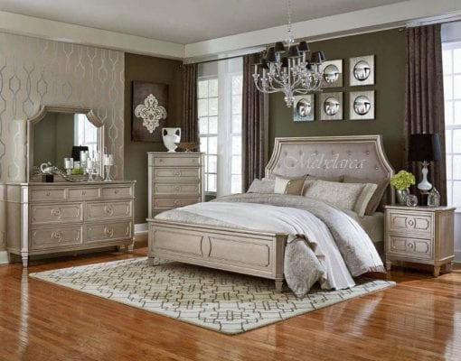 Tempat Tidur Mewah Silver Set