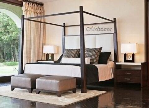 tempat tidur kanopi modern jepara