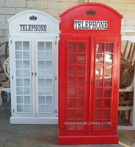 lemari telepon, lemari pajangan, bufet telepone, harga lemari telpone, gambar lemari telpone, model lemari mewah, lemari pajangan warna merah