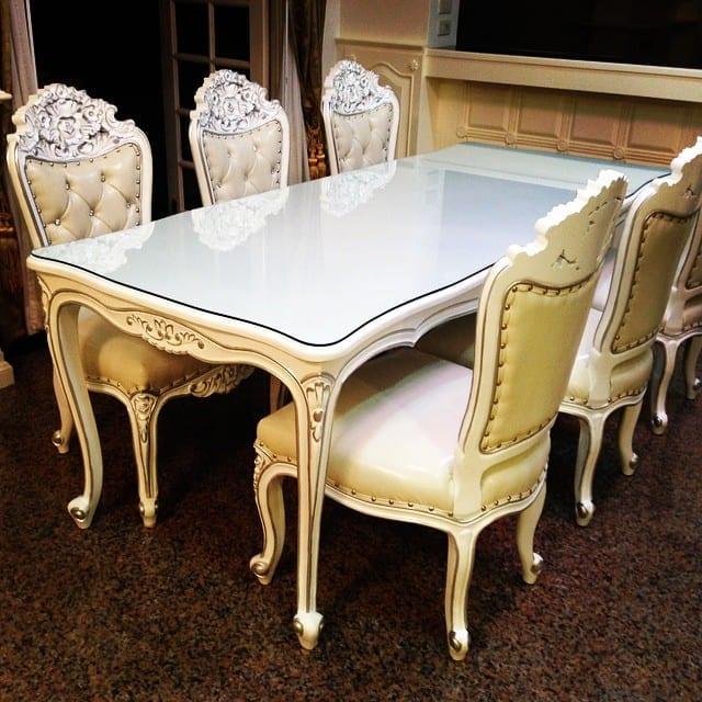 Set Meja Makan Putih Duco
