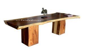 Meja Trembesi kaki Kotak