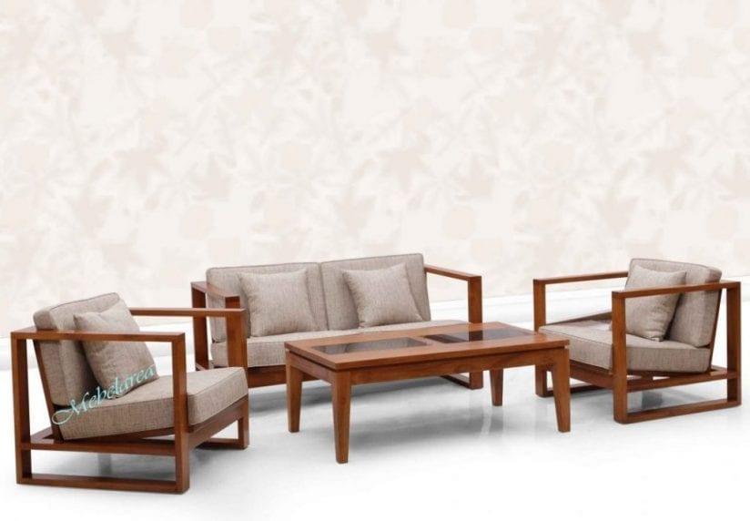 Set Sofa Tamu Minimalis Jati