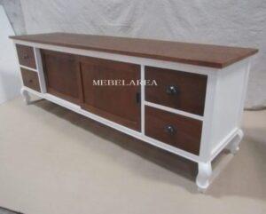 Meja Tv Putih Italian