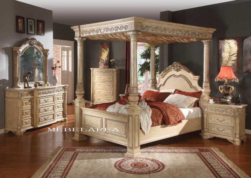 Set Tempat Tidur Kanopi Virgo