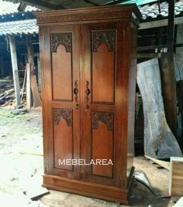 Lemari Pakian Pintu 2 Minimalis MJP