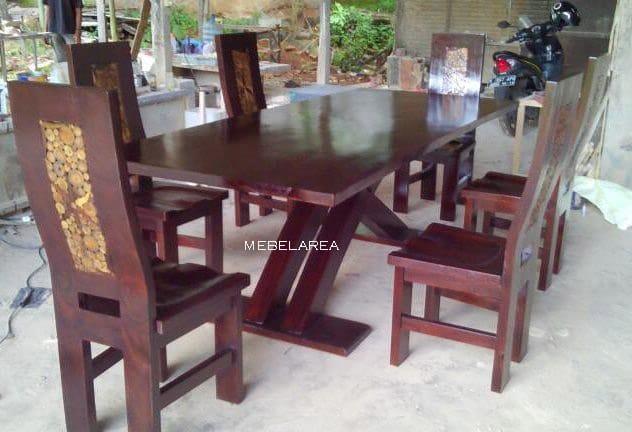 set kursi makan modern trembesi