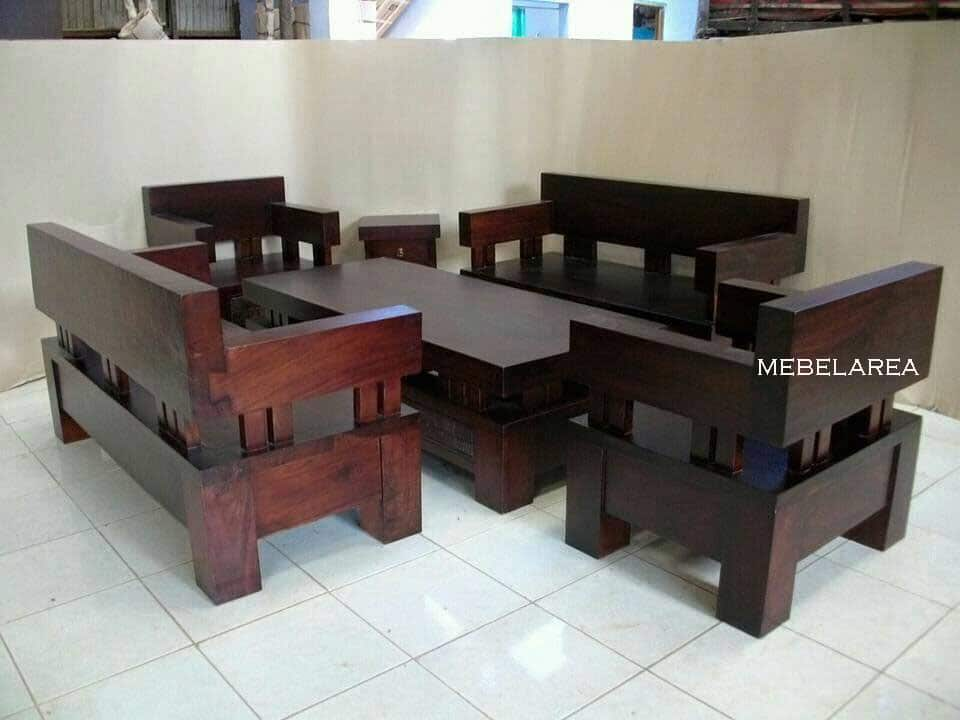 Set Kursi Tamu Kayu Blok Furniture Antik Trembesi