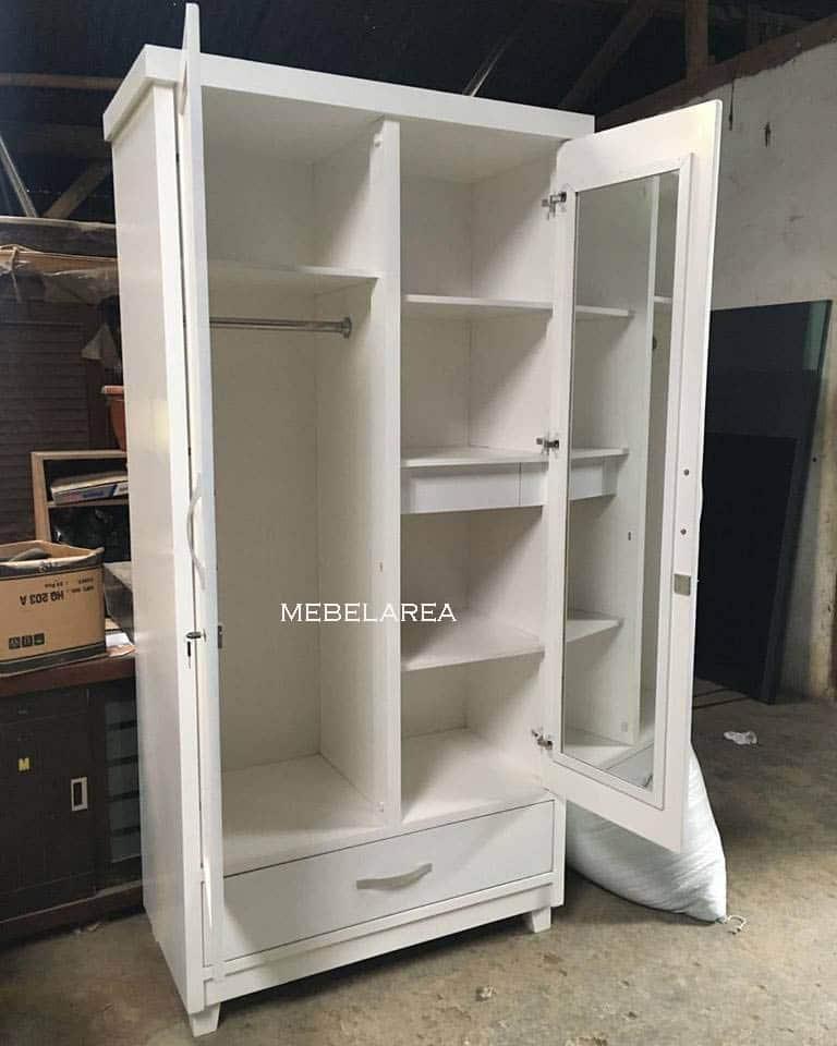 lemari pakaian kayu 2 pintu