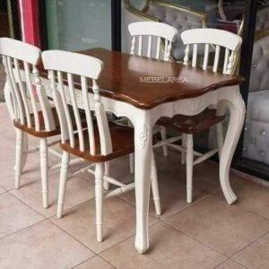 Set Kursi Makan Vintage Duco