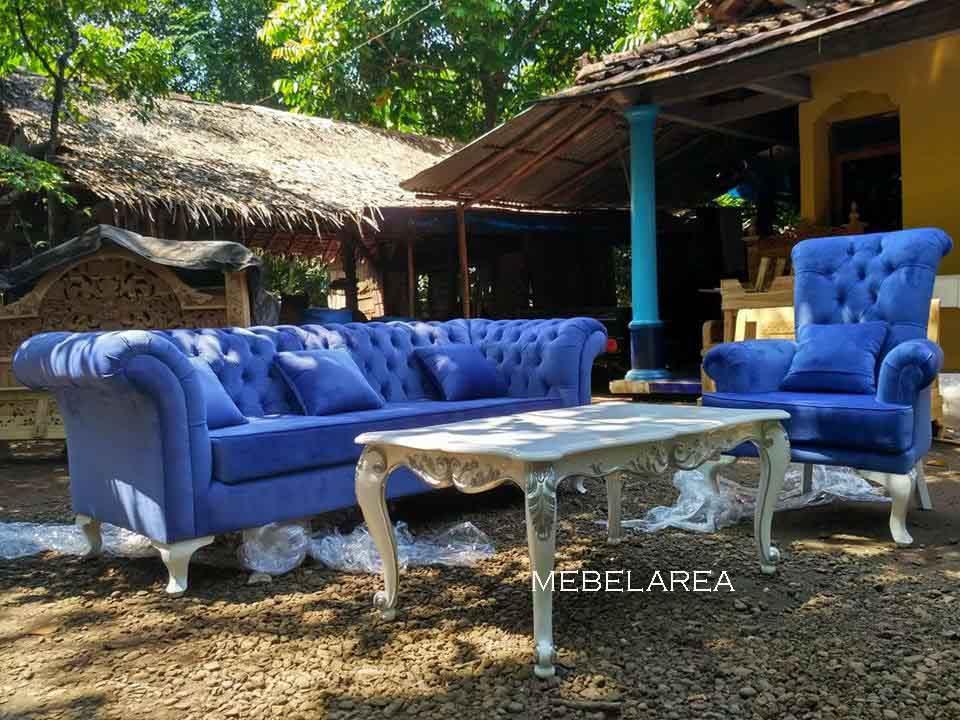 set sofa tamu modern kayu