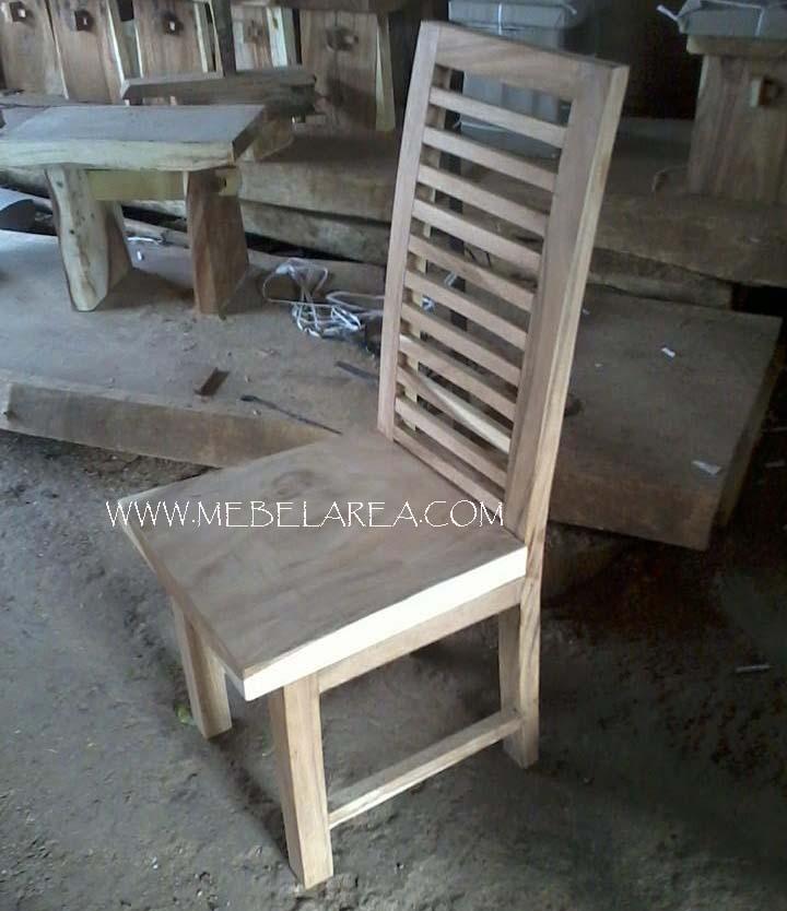 kursi kayu modern, kursi makan kayu minimalis, kursi suar