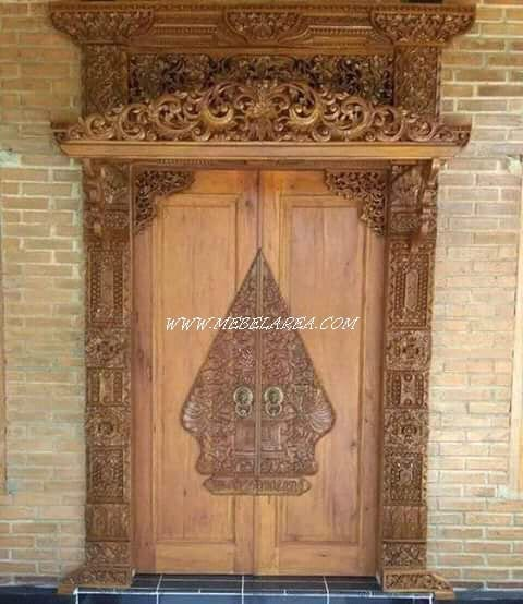 gebyopk pintu jawa ukiran klasik kayu jati