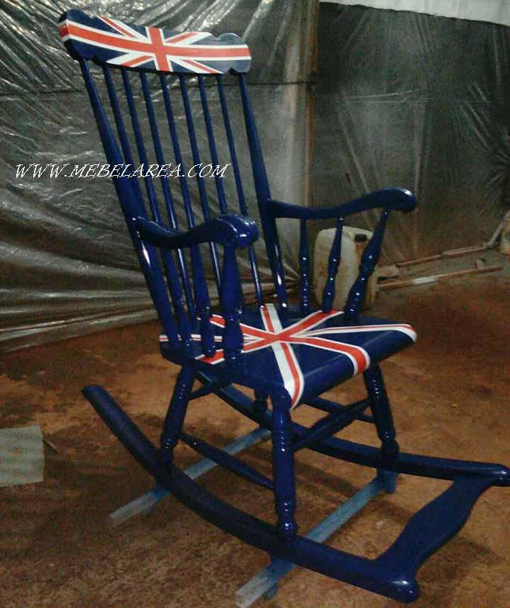 kursi goyang motif warna bendera inggris