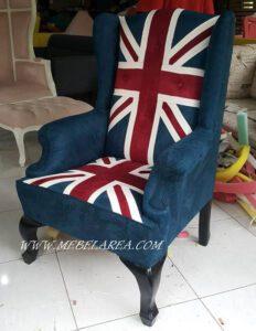 kursi sofa minimalis bendera inggris