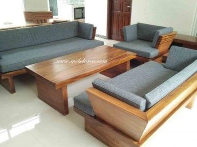 Set Kursi Sofa Tamu Kayu Solid Suar Trtembesi