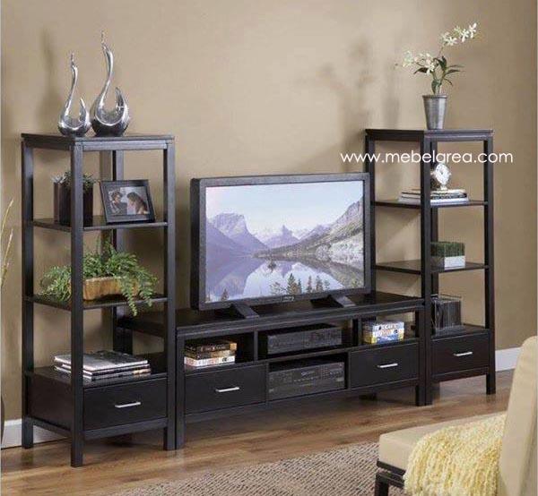 Ini adalah salah satu desain model buffet meja tv minimalis modern terbuat dari kayu jati