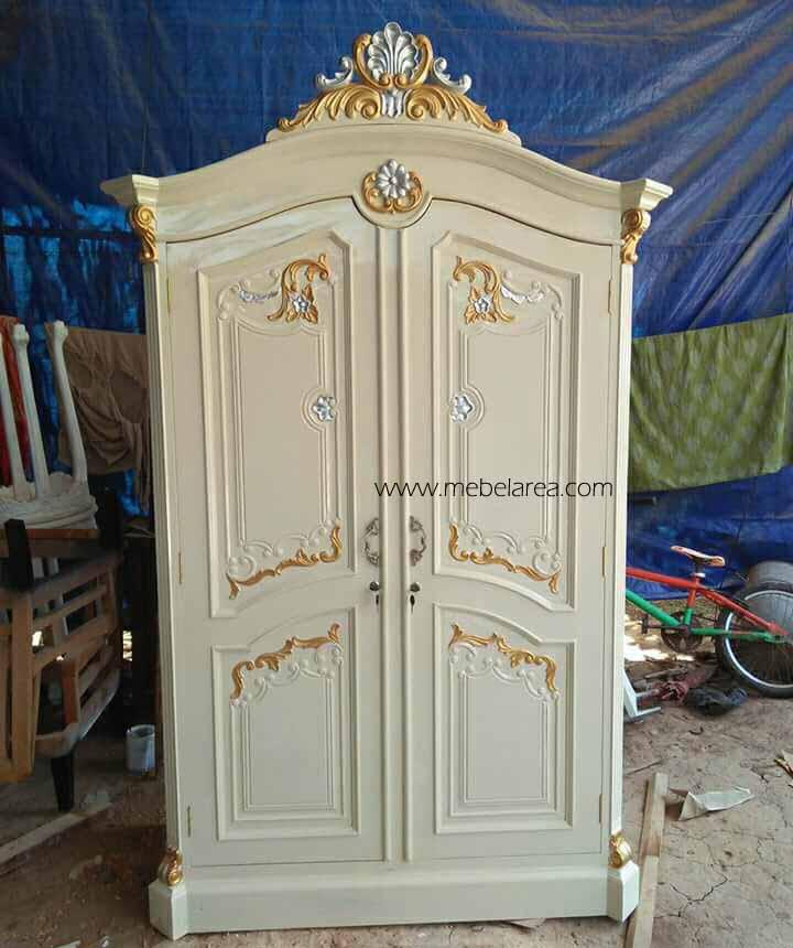 Lemari Pakaian 2 Pintu Warna Duco Putih