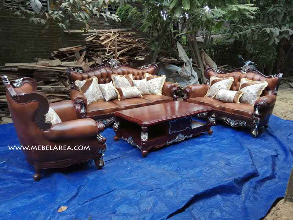 Furniture Set Sofa Tamu Mewah Ukiran Produk Mebel Jepara