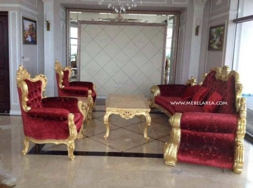 Set Sofa Tamu Luxury Mewah Ukiran Model Italy
