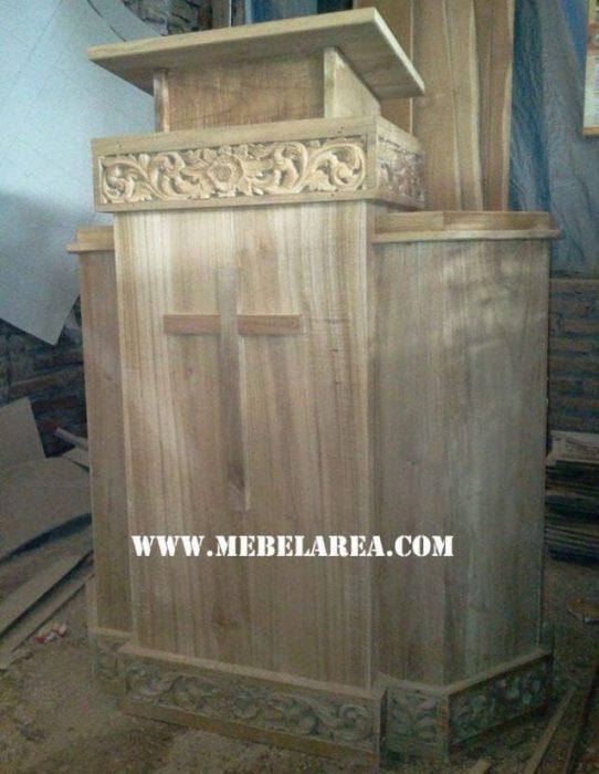 Furniture Mimbar Gereja Dari Kayu Jati Jepara Harga Murah