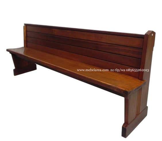 Furniture Bangku Gereja Jati Minimalis