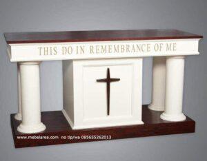 Meja Altar Gereja Duco Putih