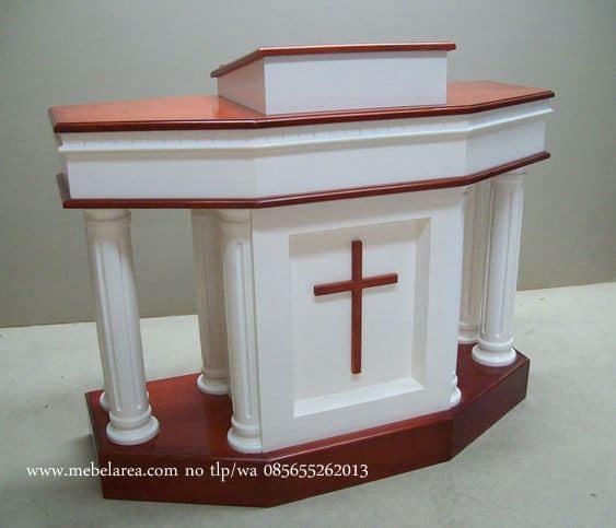 Mimbar Gereja Mewah Warna Duco Putih