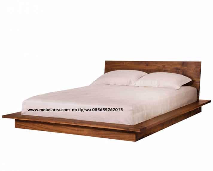 Tempat Tidur Minimalis Modern Dari Kayu Jati Model 2020