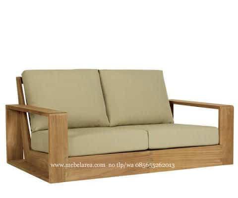 Sofa Minimalis Kayu Jati Desain Modern Model Terbaru Kualitas Furniture Jepara