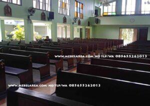 Bangku Gereja Jati Model Terbaru